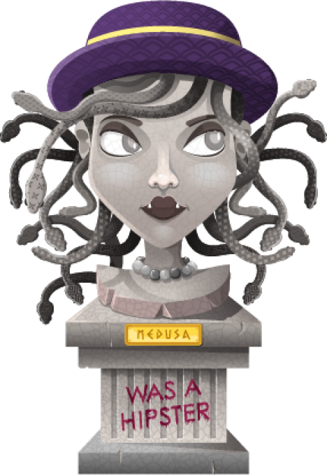 Medusa was a hipster