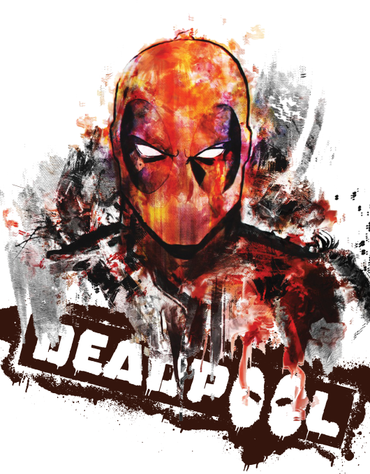 DEADPOOL WATERCOLOR