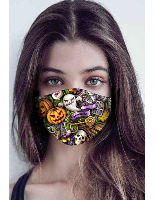 HALLOWEEN PATTERN MASK