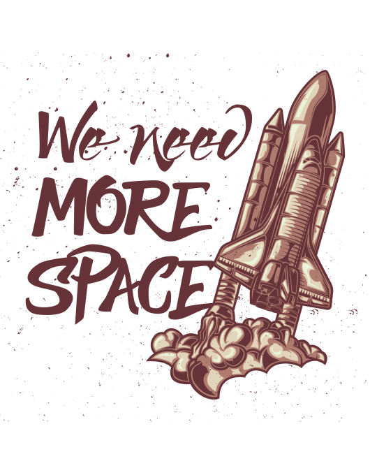 We need more space burgundy