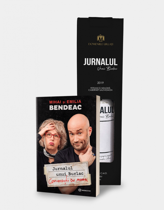 "Carte + Vin Rosu ""Jurnalul Unui Burlac"""